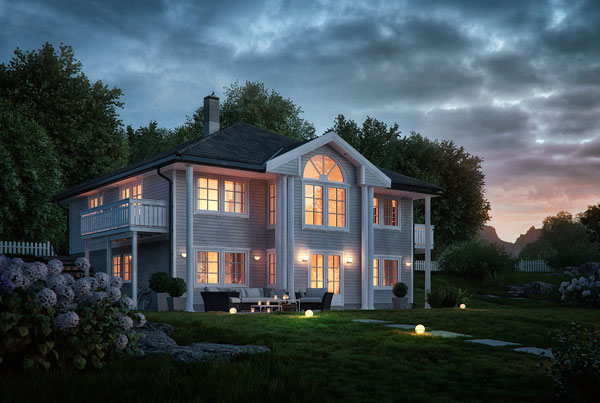 Norwegian house 3D project